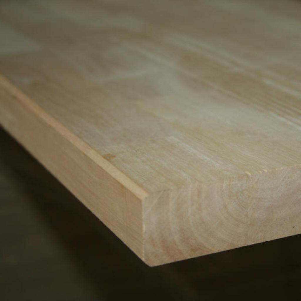Massief Houten Werkblad.Werkblad Massief Rubberwood Lamel 40mm 3050x1100m Houtshop