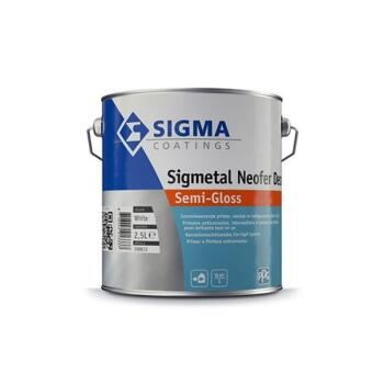 SIGMA SIGMETAL NEOFER DECOR SEMI-GL. ZWART 0.5L